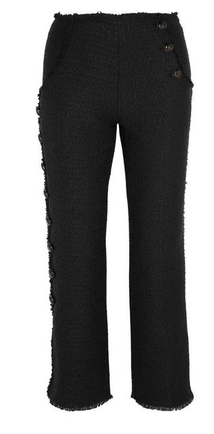 Proenza Schouler frayed tweed kick flare trousers