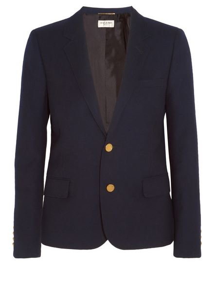 Saint Laurent navy blazer