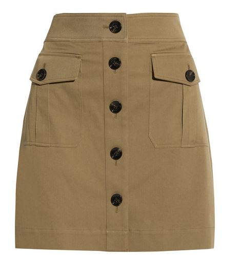 Burberry Brit cotton twill mini skirt