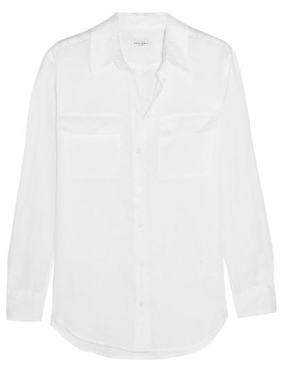 Equipment white linen oxford