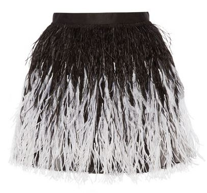 Alice + Olivia feather skirt