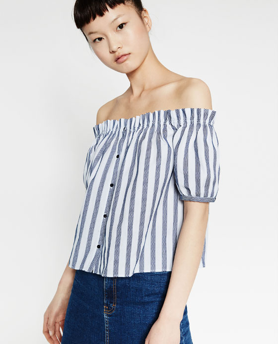 Zara striped top $35.90