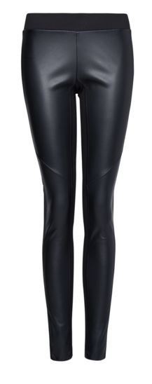 Mango leather leggings