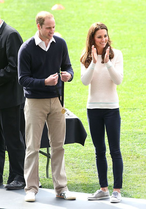 The Duke and Duchess at a rugby match