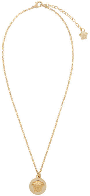 versace gold coin necklace