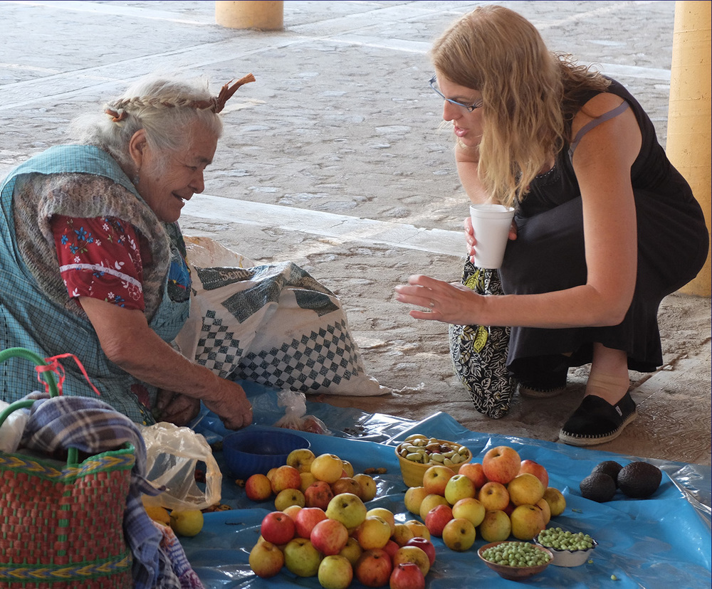 At the village market outside of Oaxaca, Mexico