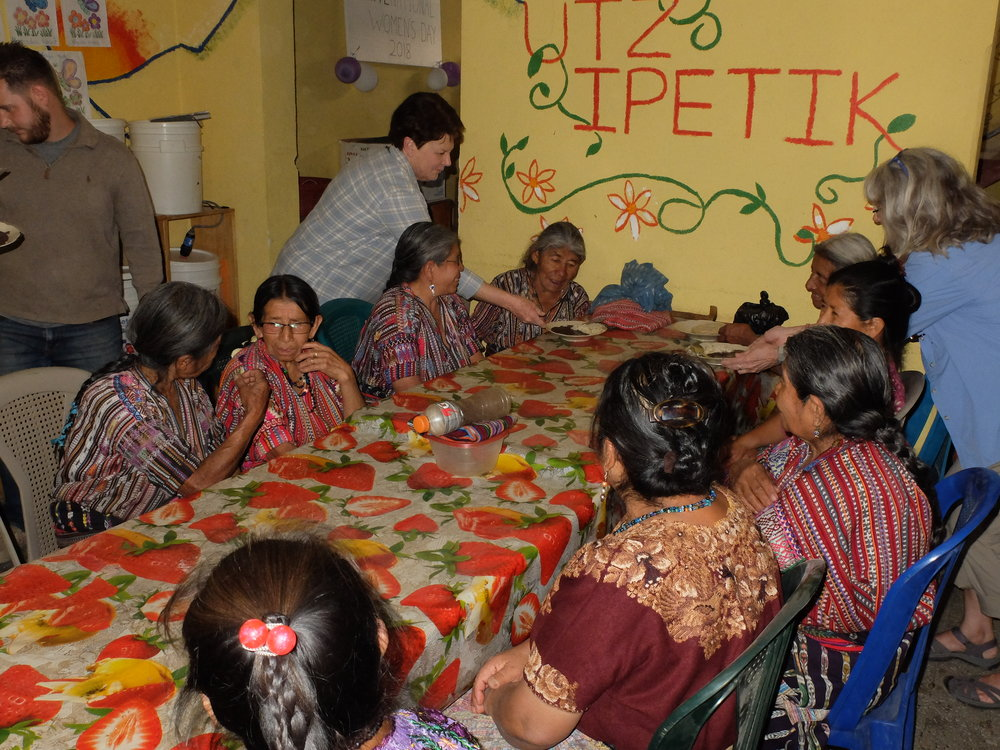Serving lunch to the ancianos (elderly) in San Jorge, Guatemala, part of a program by the nonprofit Mayan Families