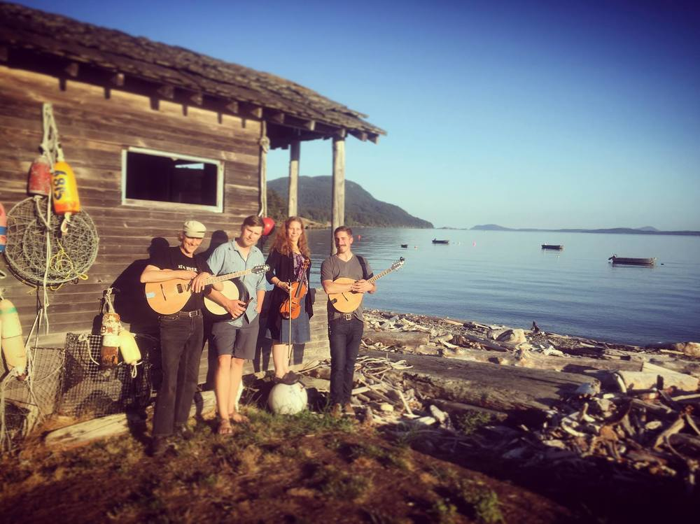 Just after playing a perfect back yard show for a lovely family gathering on Lummi Island 7-30-16