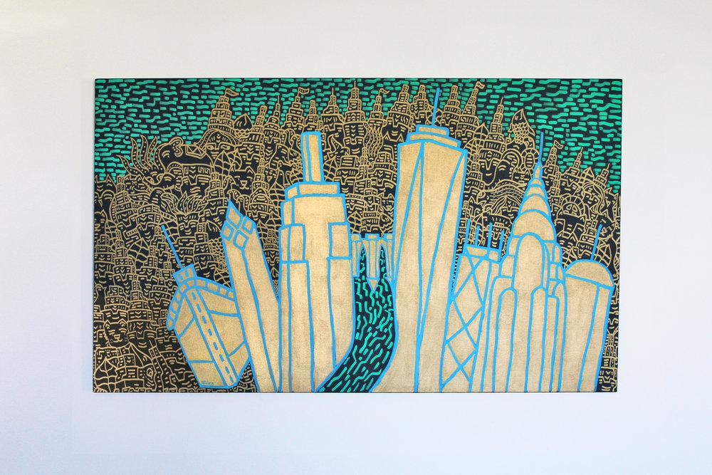Cityscape NYC 5' x 3'