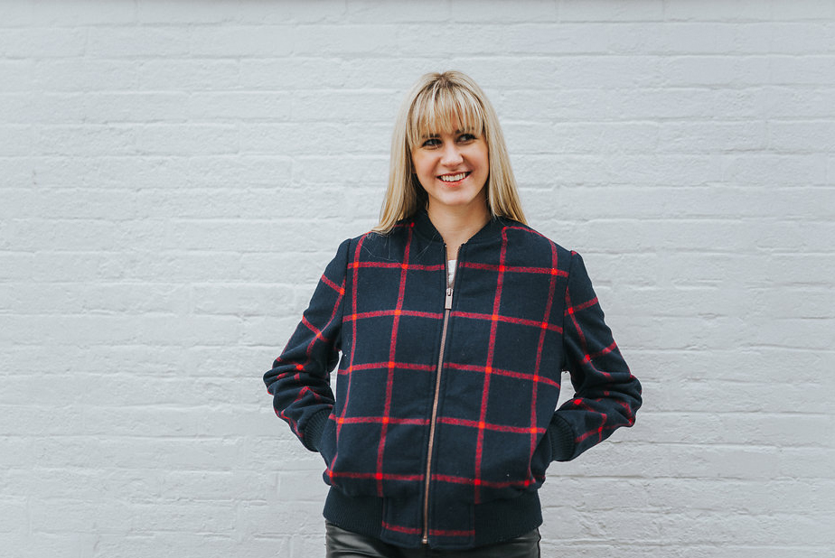 Fleece-Lined Wool Plaid Bomber from Old Navy- similar style available via Woolrich