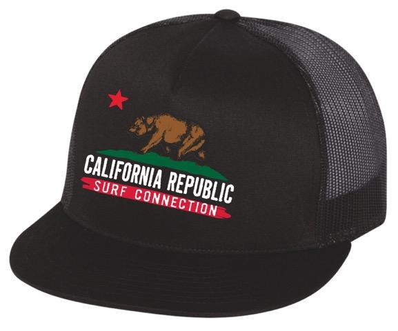 California Bear Trucker Hat — Surf Connection 3d44f4803ef6