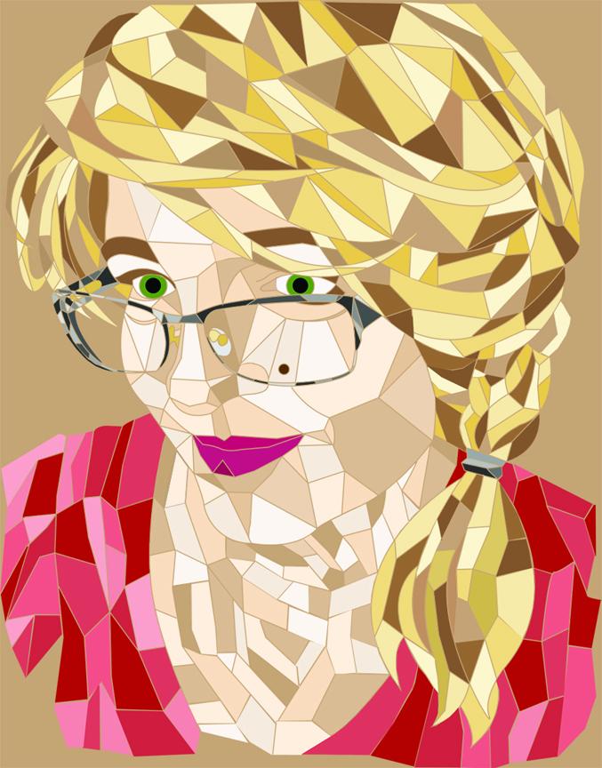 Low Polygon Self-Portrait (Illustrator)