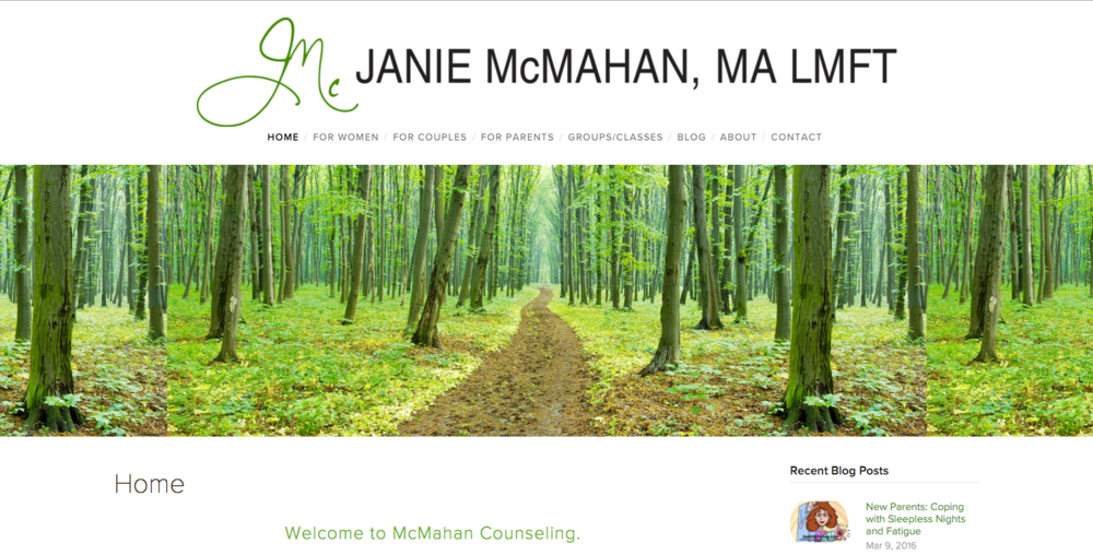 Redesign of JanieMcMahan.com