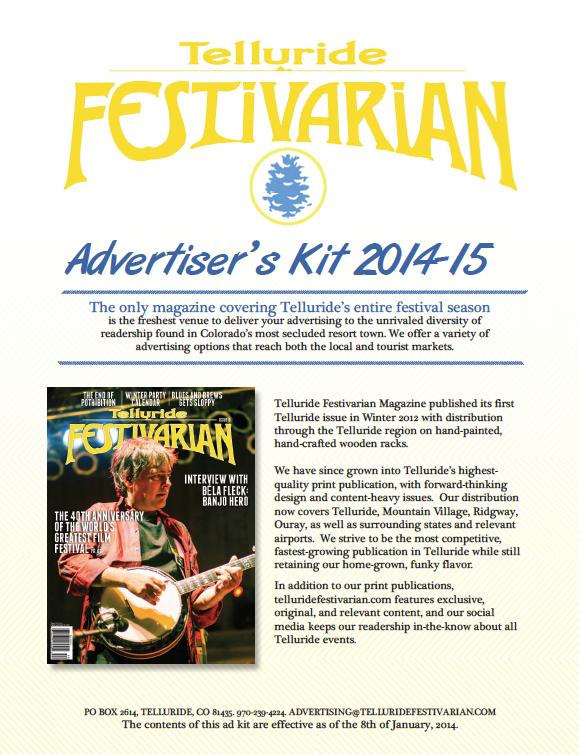 Media Kit & Sales Materials