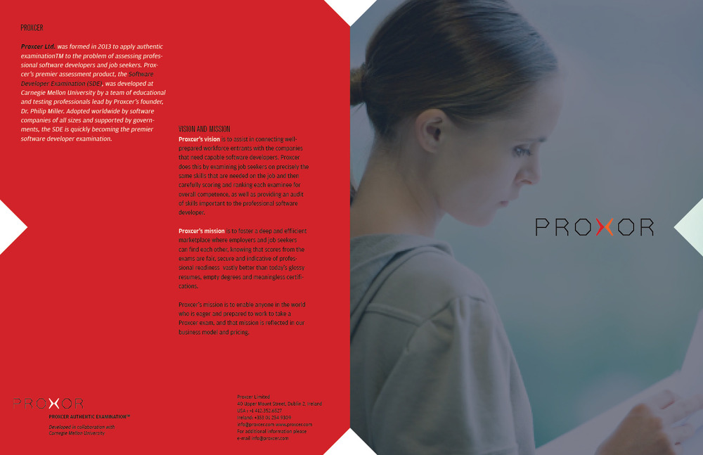 Branding and marketing collaterals designed for Proxor