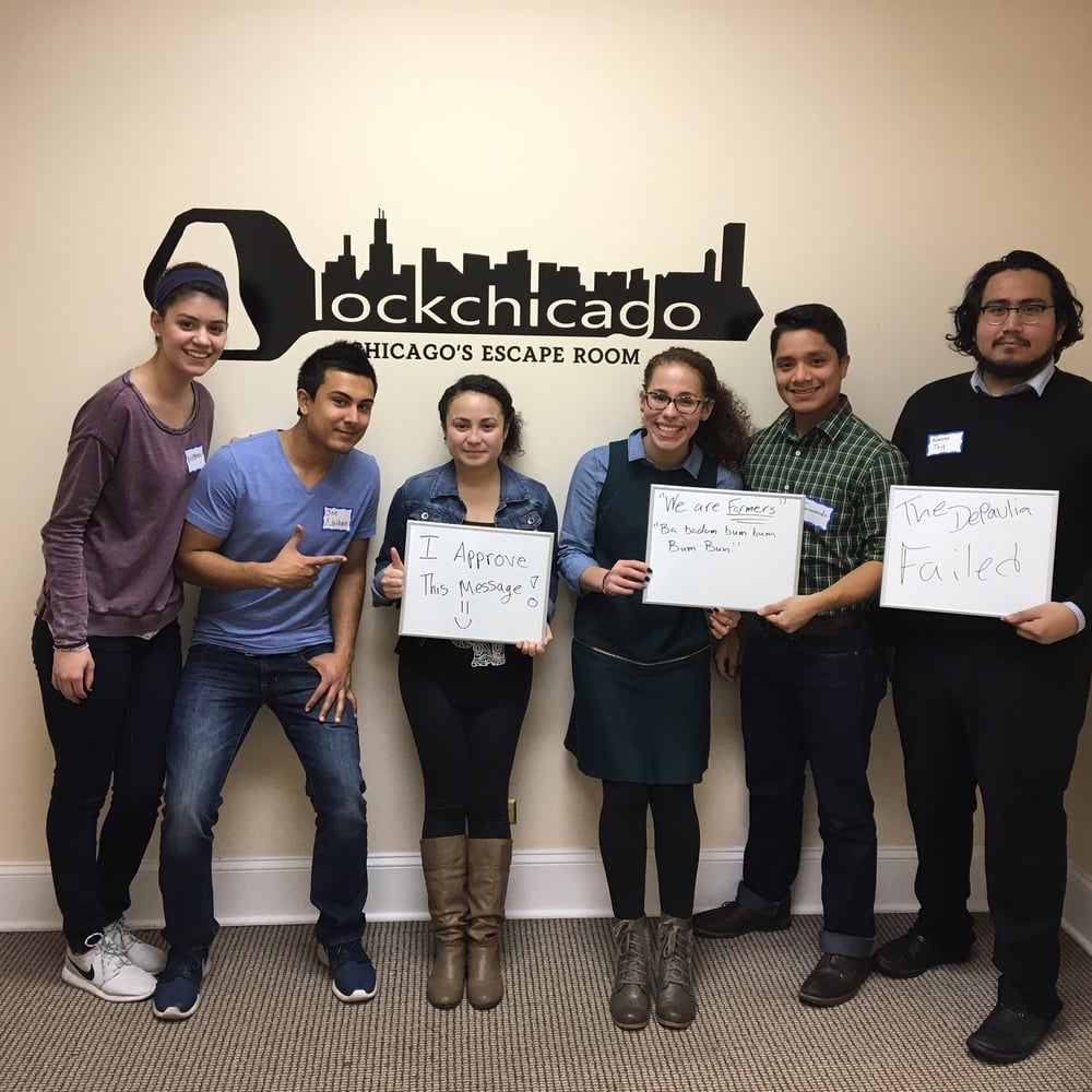 The team from the Depaulia came to check out Lock Chicago, and they were so close to winning! Just a few more puzzles stood in-between them and the Escape Room treasure!