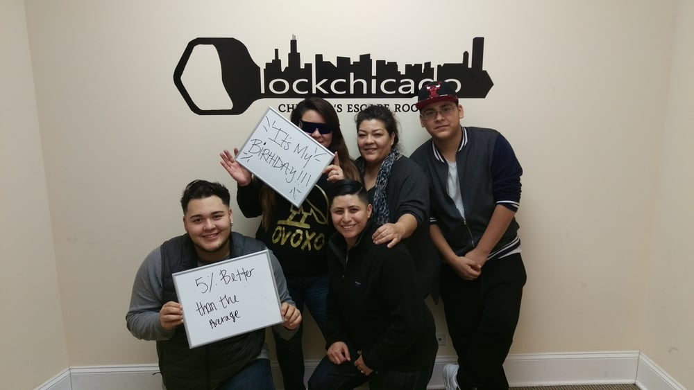 We're glad you chose to have your first escape room experience with us at Lock Chicago! You all did so well, and we hope to see you again soon!
