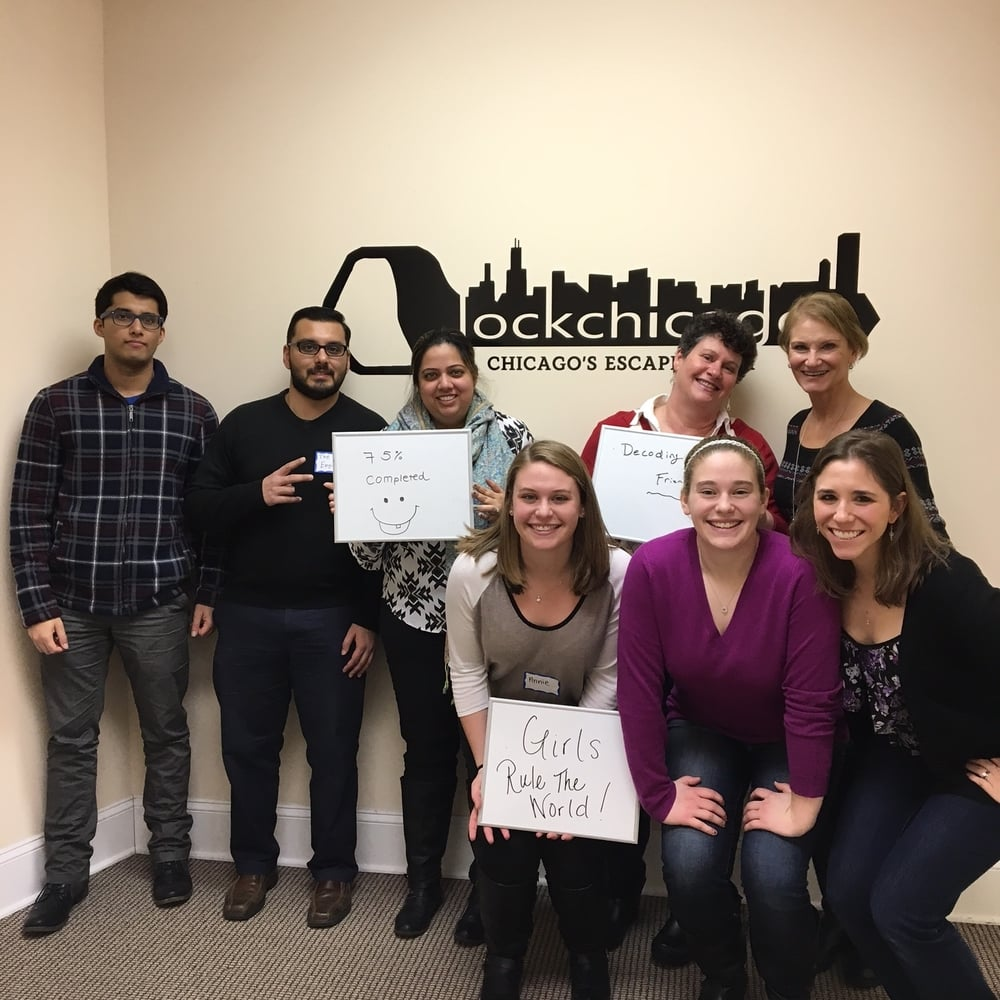 Thanks for stopping by Lock Chicago today! You may not have all known each other coming in, but you started working as a team seamlessly and made it really far!