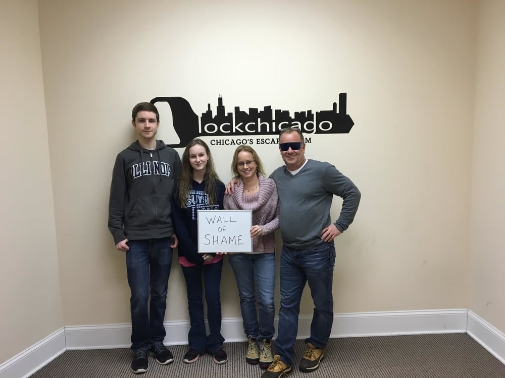 Thanks for coming to Lock Chicago and trying out our escape room! You all blazed through the puzzles and didn't even use a hint until you were halfway through! If you had five more minutes you would have had it!