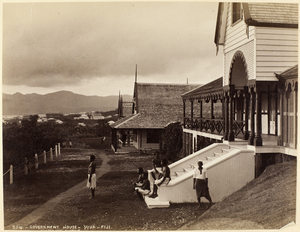 Museum of New Zealand: Gouvernment House- Suva- Fiji, Burton Brothers Studio, 1884