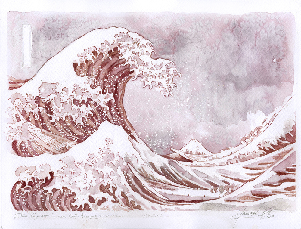 "Sanja Jankovic copia di The wave""by Katsushika Hokusai"