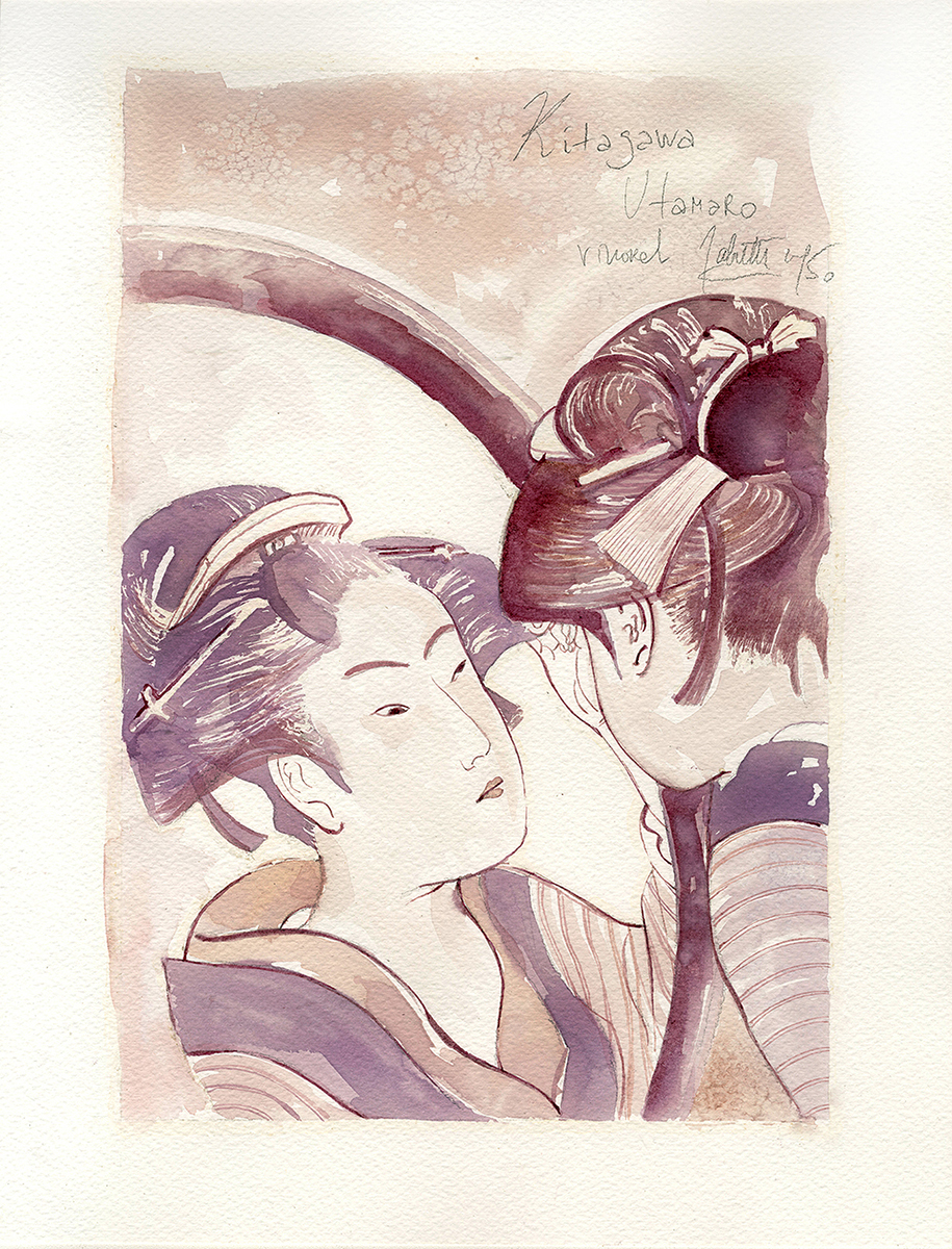 "Sanja Jankovic copia di Kitagawa Utamaro, ""Ôgiya Hanaôgi"