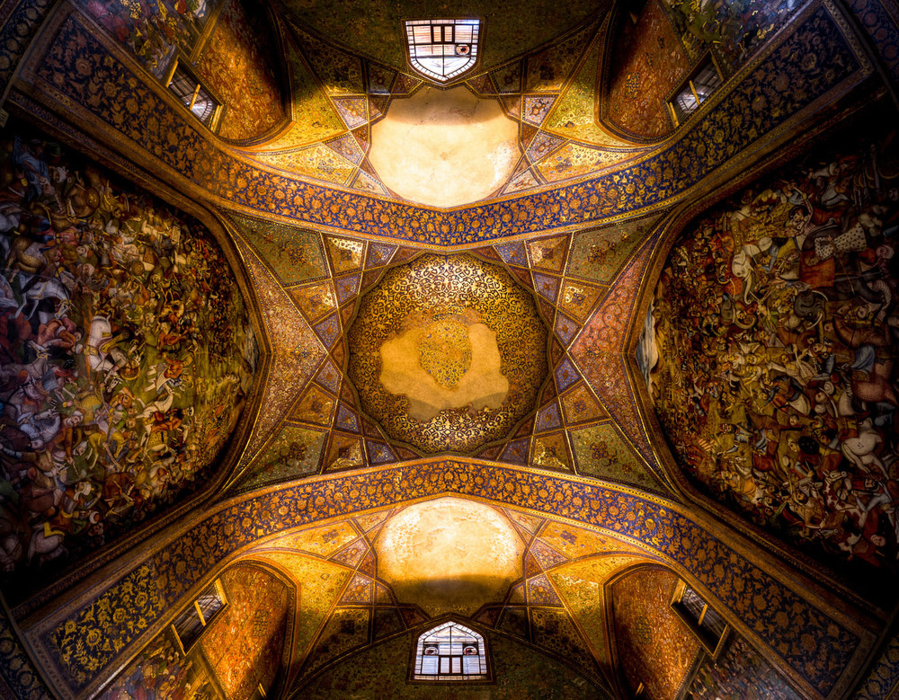 Ceiling of Chehel sotoun - Isfahan
