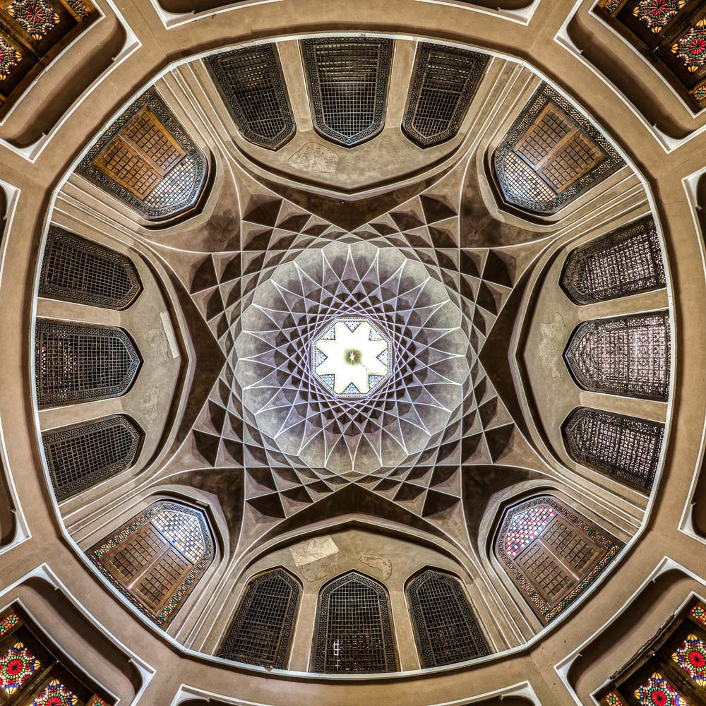Ceiling of Dolat abad, Yazd