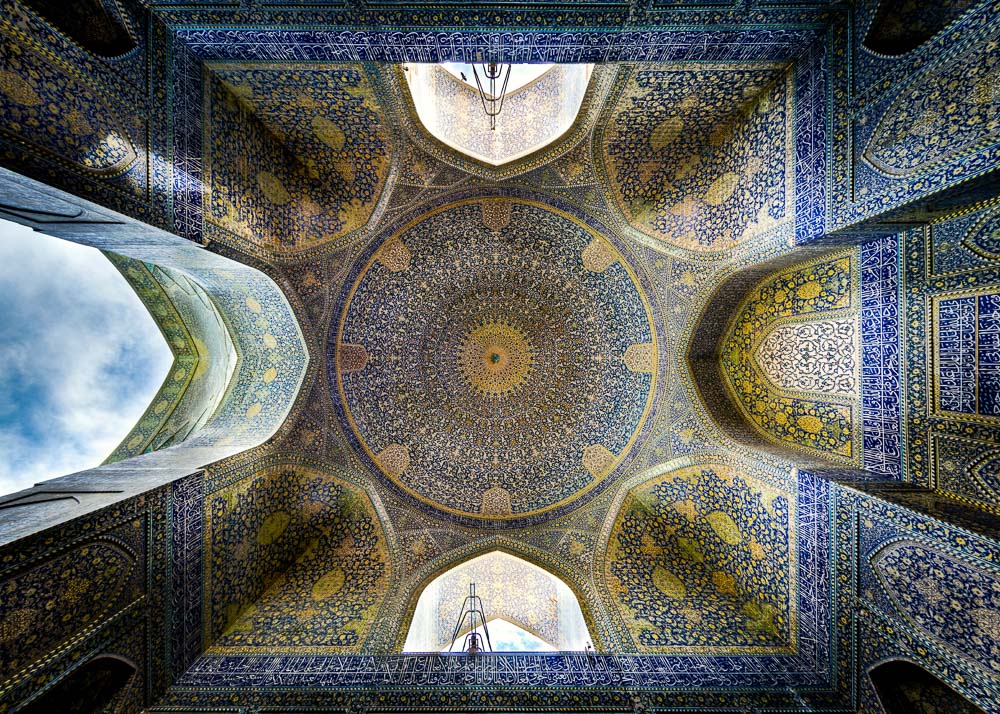 Ceiling of Shah (Imam) mosque, Isfahan re edited