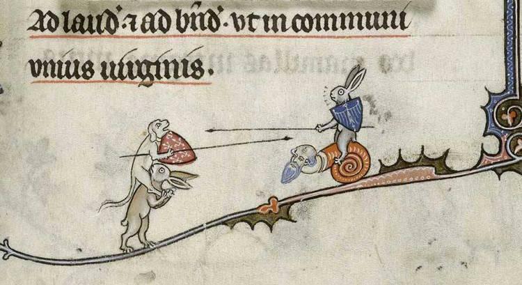 Il coniglio assassino che compare nei manoscritti miniati medioevali