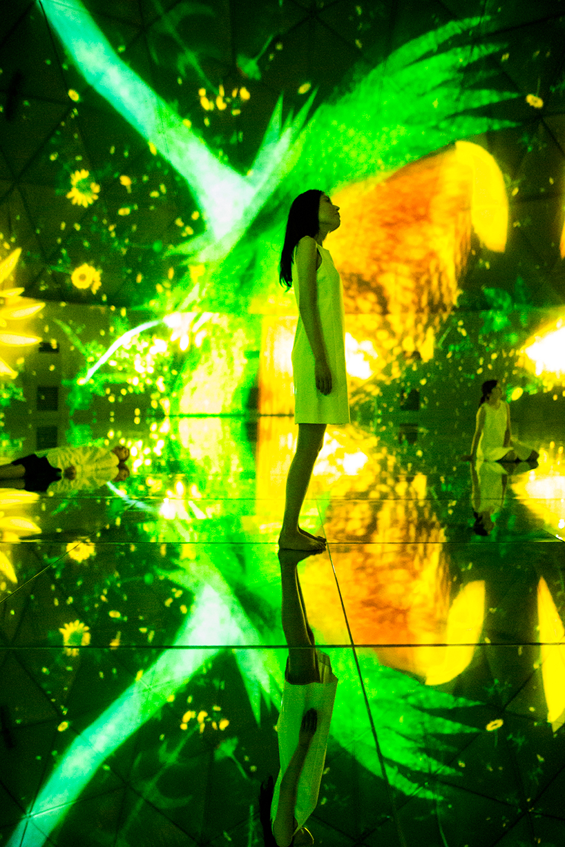 Teamlab, 'Floating in the falling universe of flowers'