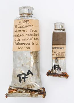 """Il marrone """"Mummy brown"""" che si otteneva dalle bende delle mummie egizie"""