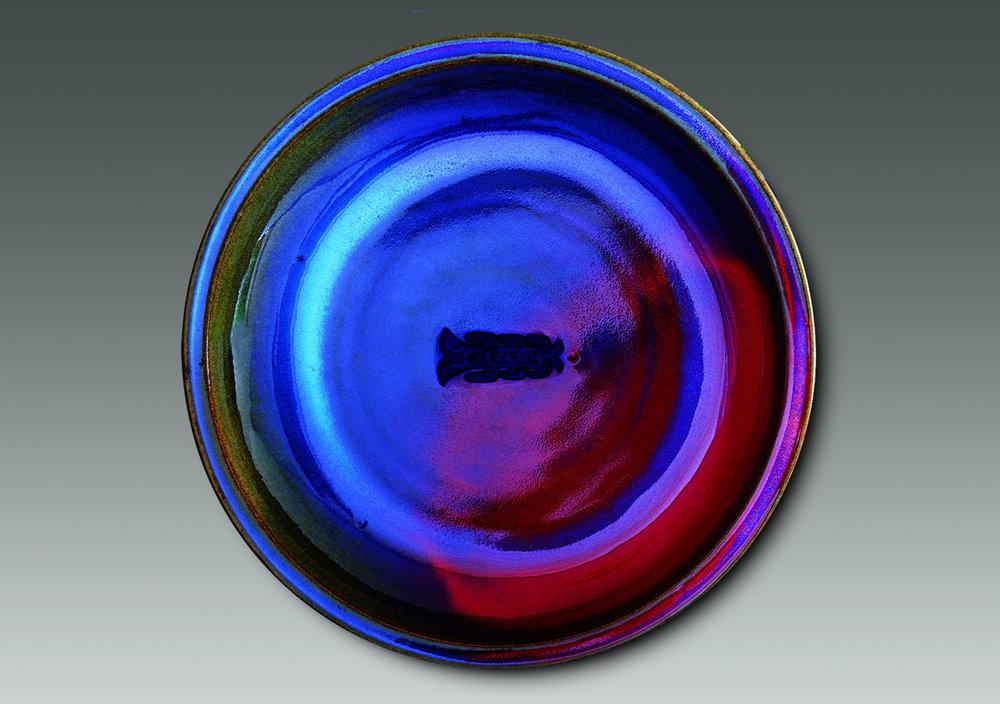 Han Meilin, piatto in ceramica policroma