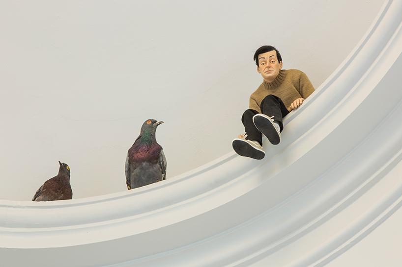 Maurizio Cattelan: others, 2011 | mini-me, 1999 | resina di poliestere, capelli sintetici, pittura, abiti | 45 x 20 x 23 cm