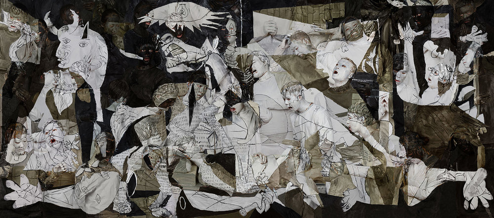 guernica, 2016 | archival pigment print | 43 1/2 x 98 3/8 inches (110.6 x 250 cm) edition of 8 + 2APs image courtesy klein sun gallery, © liu bolin