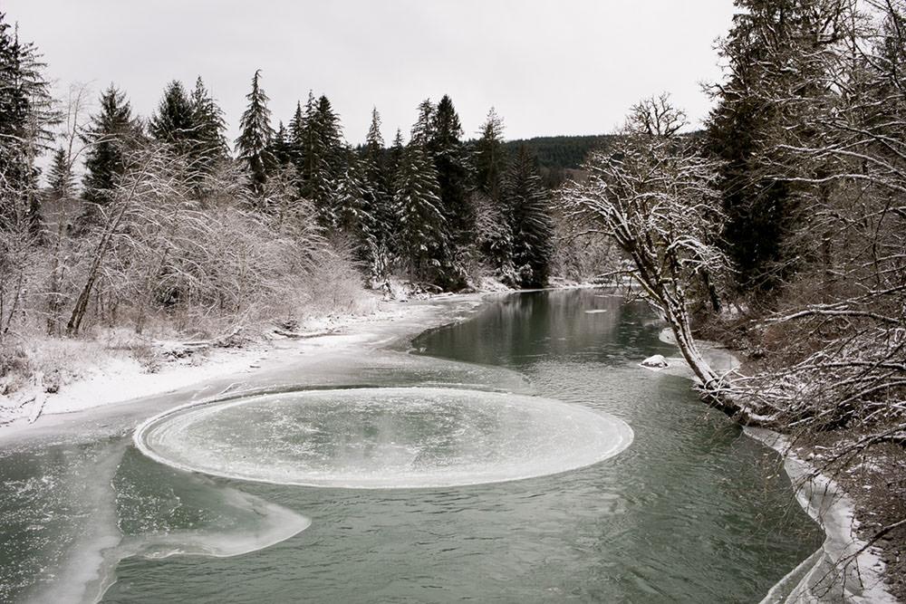 cerchio nel ghiaccio, fotografia di katylyn messer