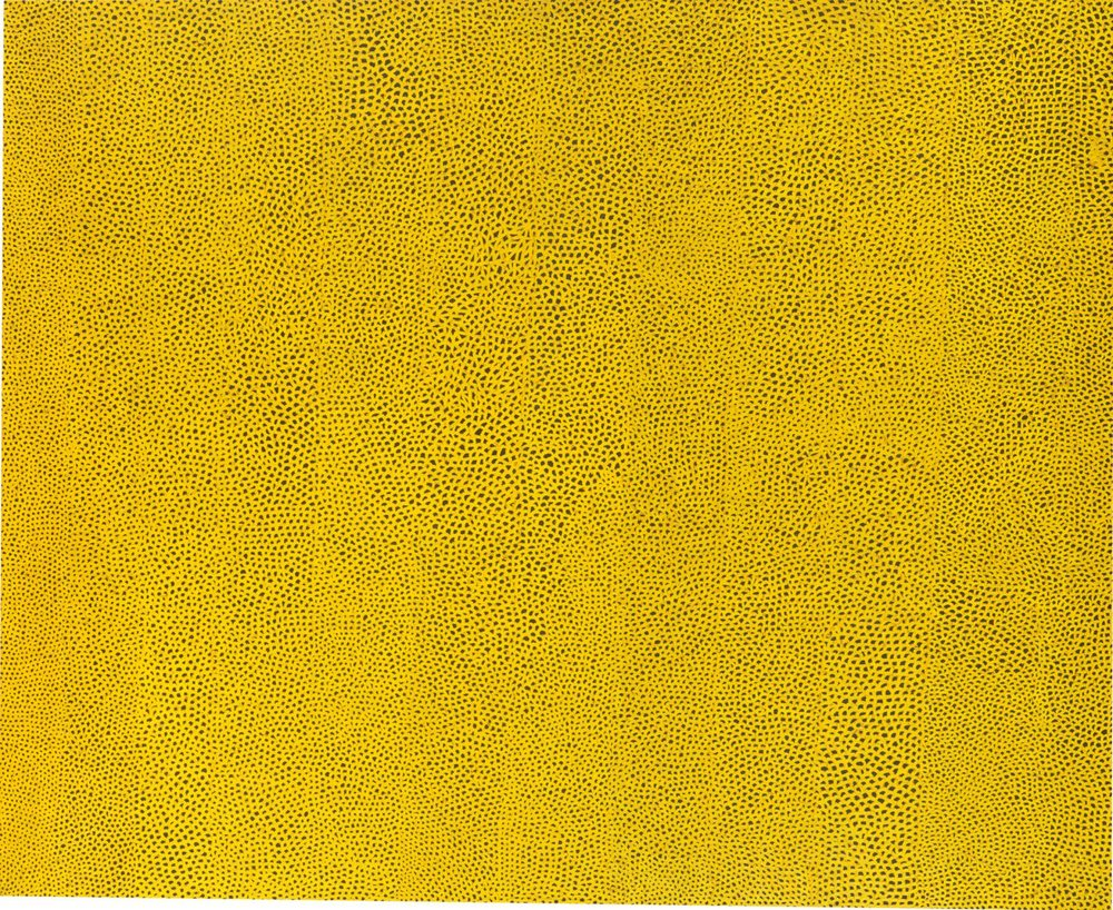 Yayoi Kusama Infinity Nets Yellow, 1960 (Oil paint on canvas) National Gallery of Art, Washington. Gift of the Collectors Committee (2002.37.1). © Yayoi Kusama
