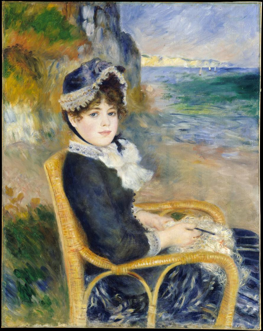 Auguste Renoir, By the Seashore, 1883, olio su tela