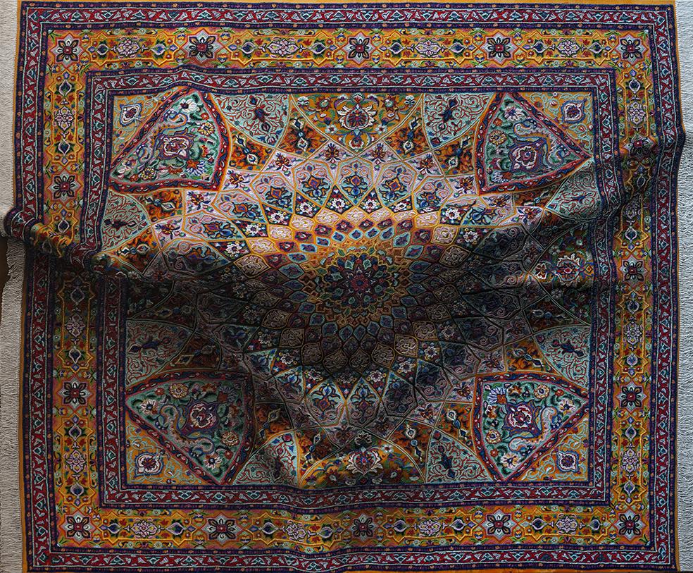 Le opere di Antonio Santin che sembrano tappeti persiani decorati ...