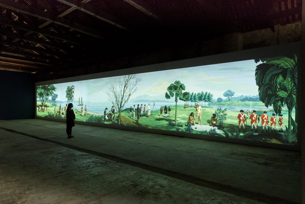 in Pursuit of Venus [infected], 2015–17, Lisa Reihana: Emissaries, Biennale Arte 2017. Photo: Michael Hall. Image courtesy of New Zealand at Venice.