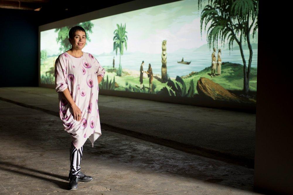 Lisa Reihana. Biennale Arte 2017. Photo: Michael Hall. Image courtesy of New Zealand at Venice