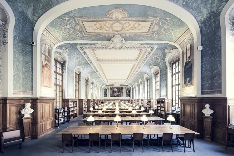 Bibliotheque de la Sorbonne, Salle Jacqueline de Romilly, Parigi, 1897