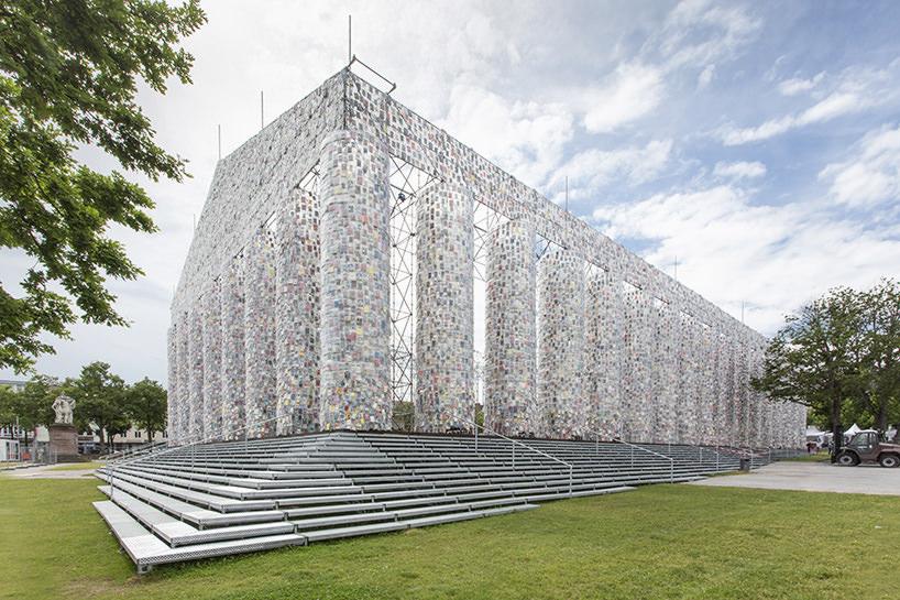 Marta Minujin, The Panthenon of books, Documenta 14, Kassel 2017, image © Roman Maerz