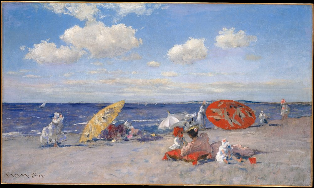 """ American Impressionism and Realism: The Painting of Modern Life, 1885-1915 "". William Merrit Chase, ""At the Seaside"", 1892"