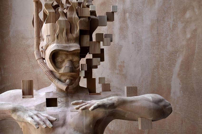 hsu-tung-han-sculture-iperrealiste-legno-con-pixel-03