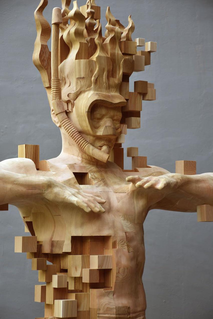 hsu-tung-han-sculture-iperrealiste-legno-con-pixel-04