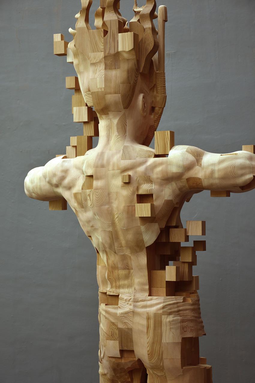 hsu-tung-han-sculture-iperrealiste-legno-con-pixel-06