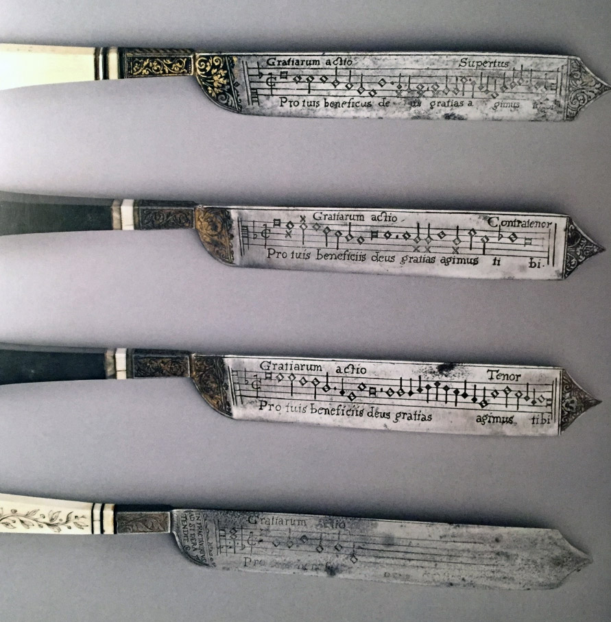 Notation Knives, XVI secolo. Artista sconosiuto. Fitzwilliam Museum Collection, Cambridge. Photo by Johan Oosterman.