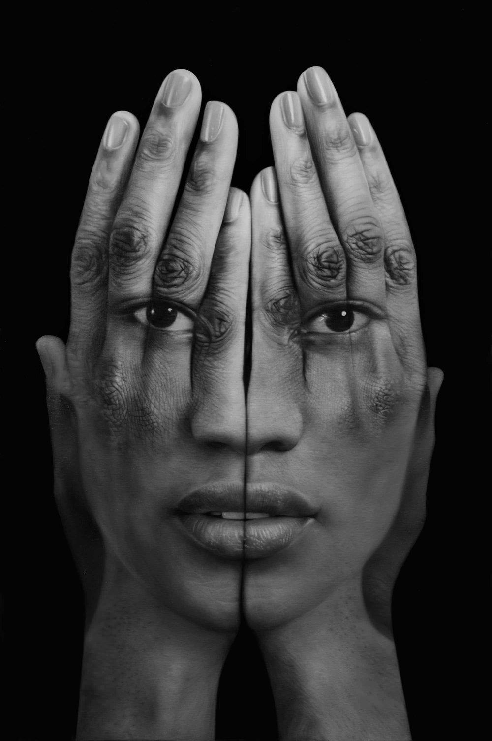 Tigran Tsitoghdzya, Black Mirror, 2013, Olio su tela 190x127 cm. photo by  Tigran Tsitoghdzya