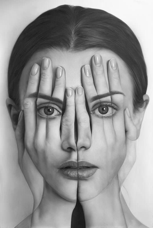 Tigran Tsitoghdzya, Mirror 0 (Ayna 0), 2017, Olio su tela 190x127 cm photo by  Galeri 77